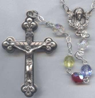 22 in. Multi-Colored Aurora Borealis Rosary