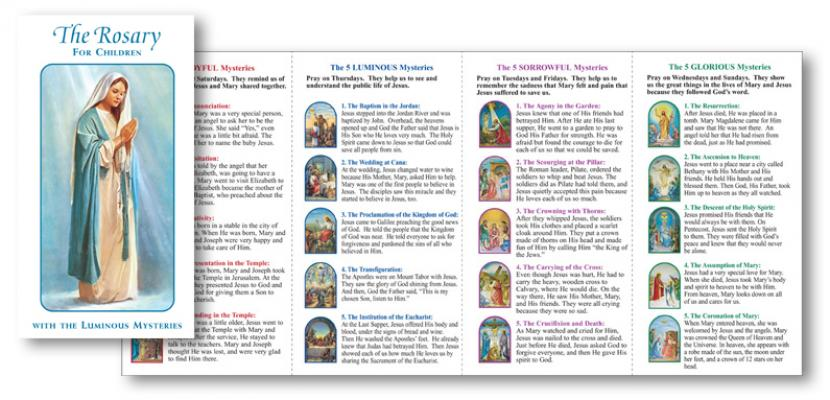 picture regarding How to Pray the Rosary Printable named The Rosary for Young children Pamphlet